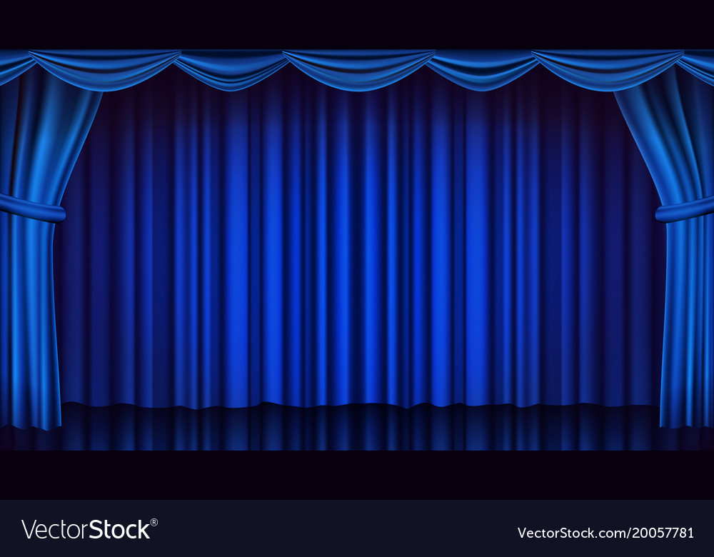 Blue theater curtain theater opera or Royalty Free Vector