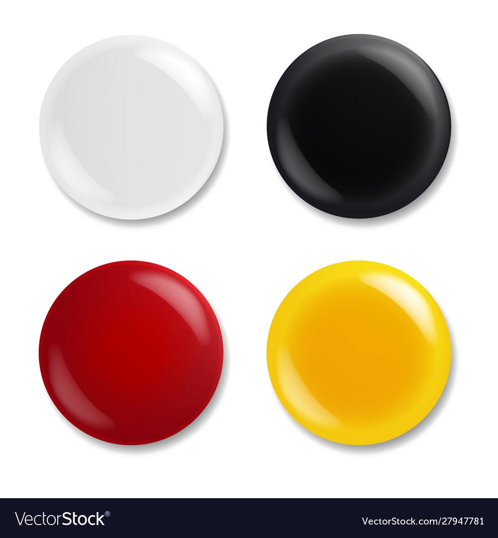 Colorful badge isolated white background