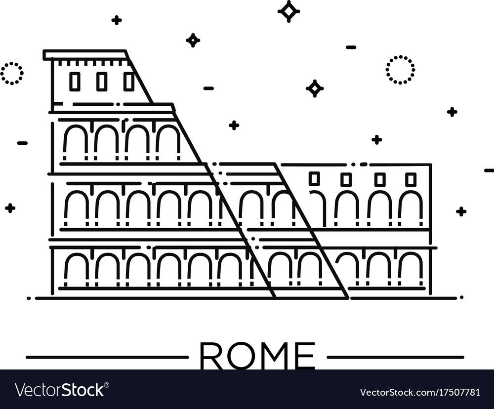 Colosseum in rome icon vector image