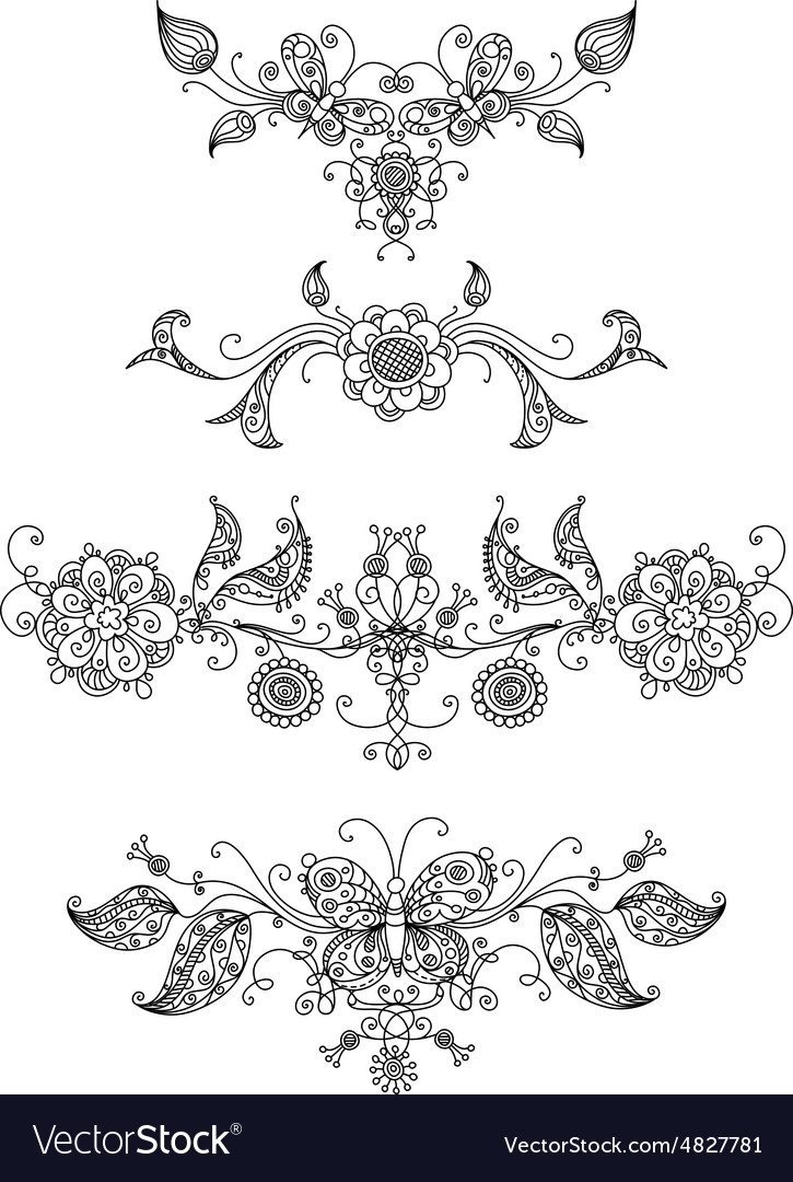 Floral page dividers and decorations