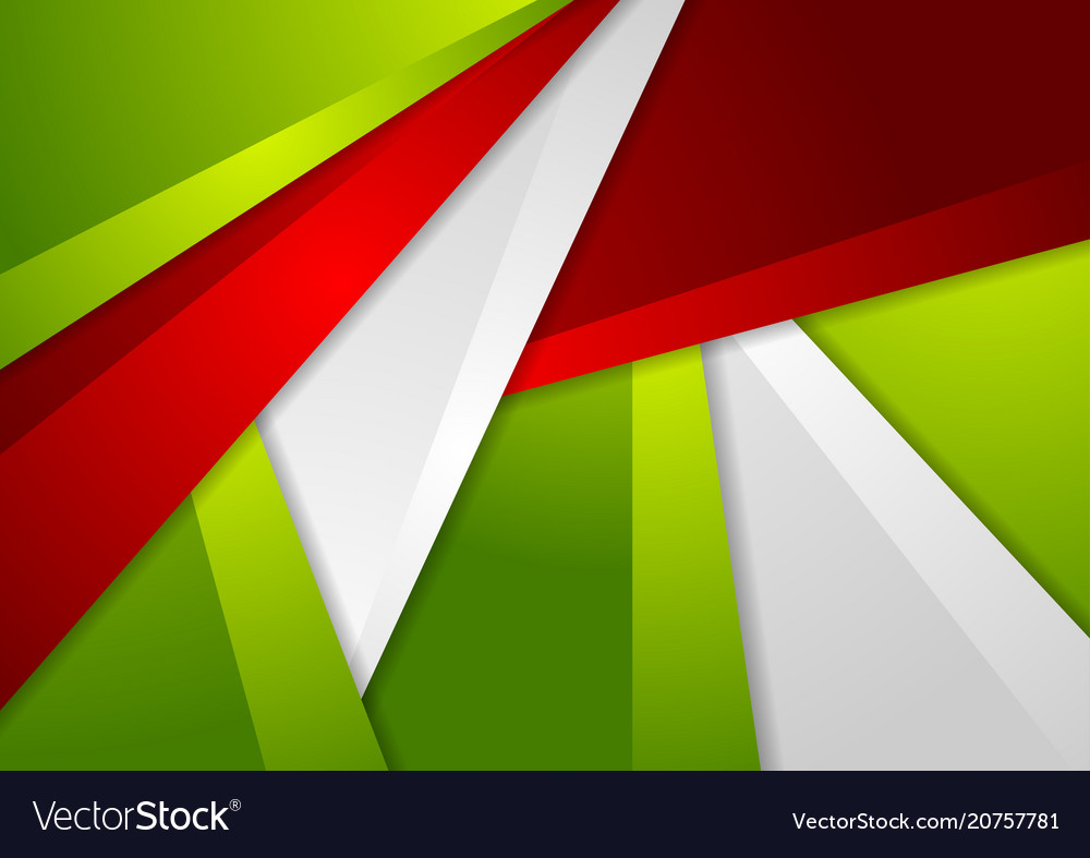 Green and red abstract corporate material