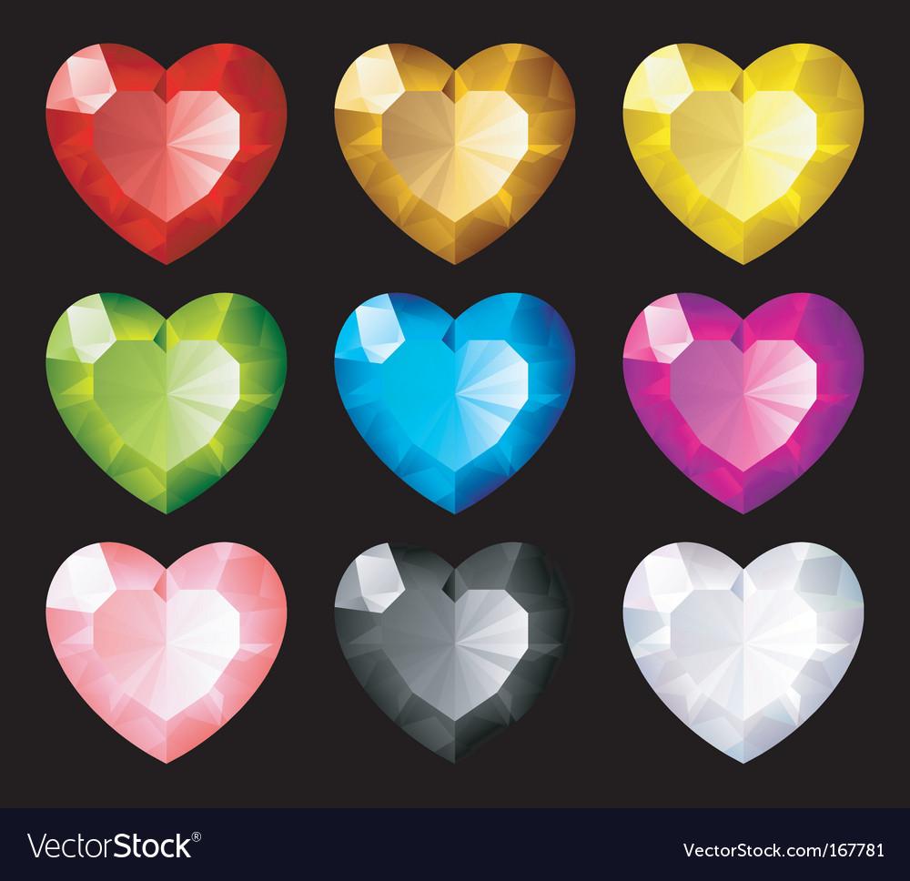 Jewel hearts set