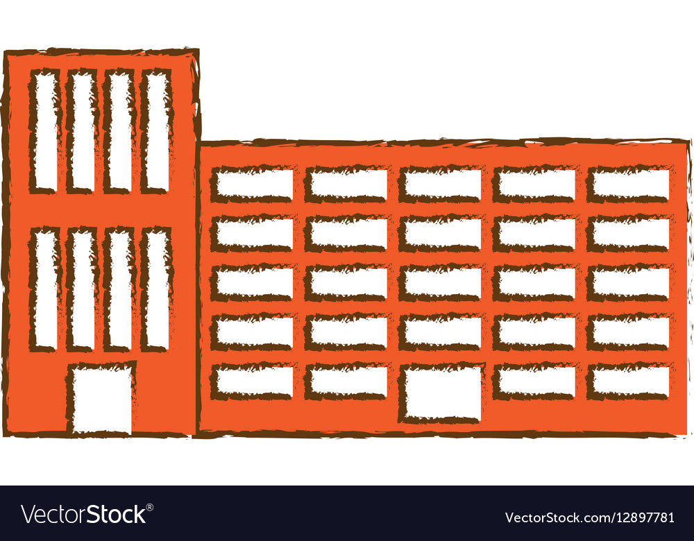 Orange city school building line sticker