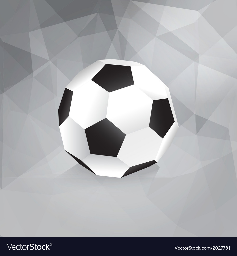 paper soccer ball trendy design template vector image
