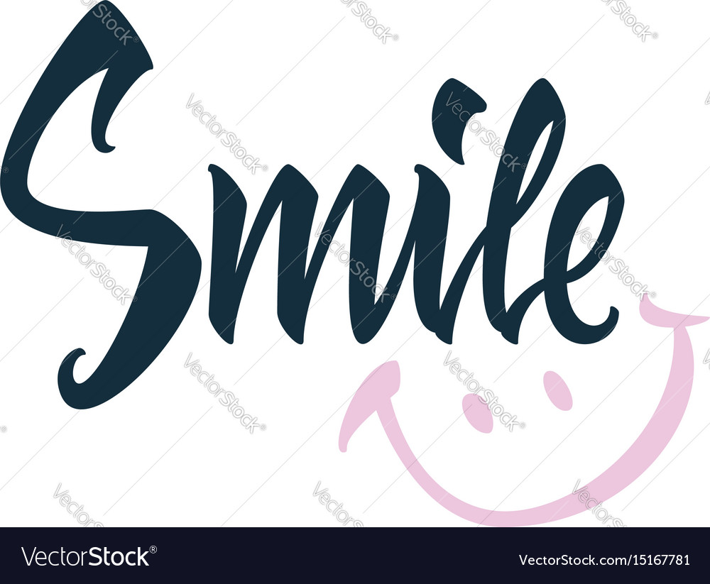 Smile greeting card on white background