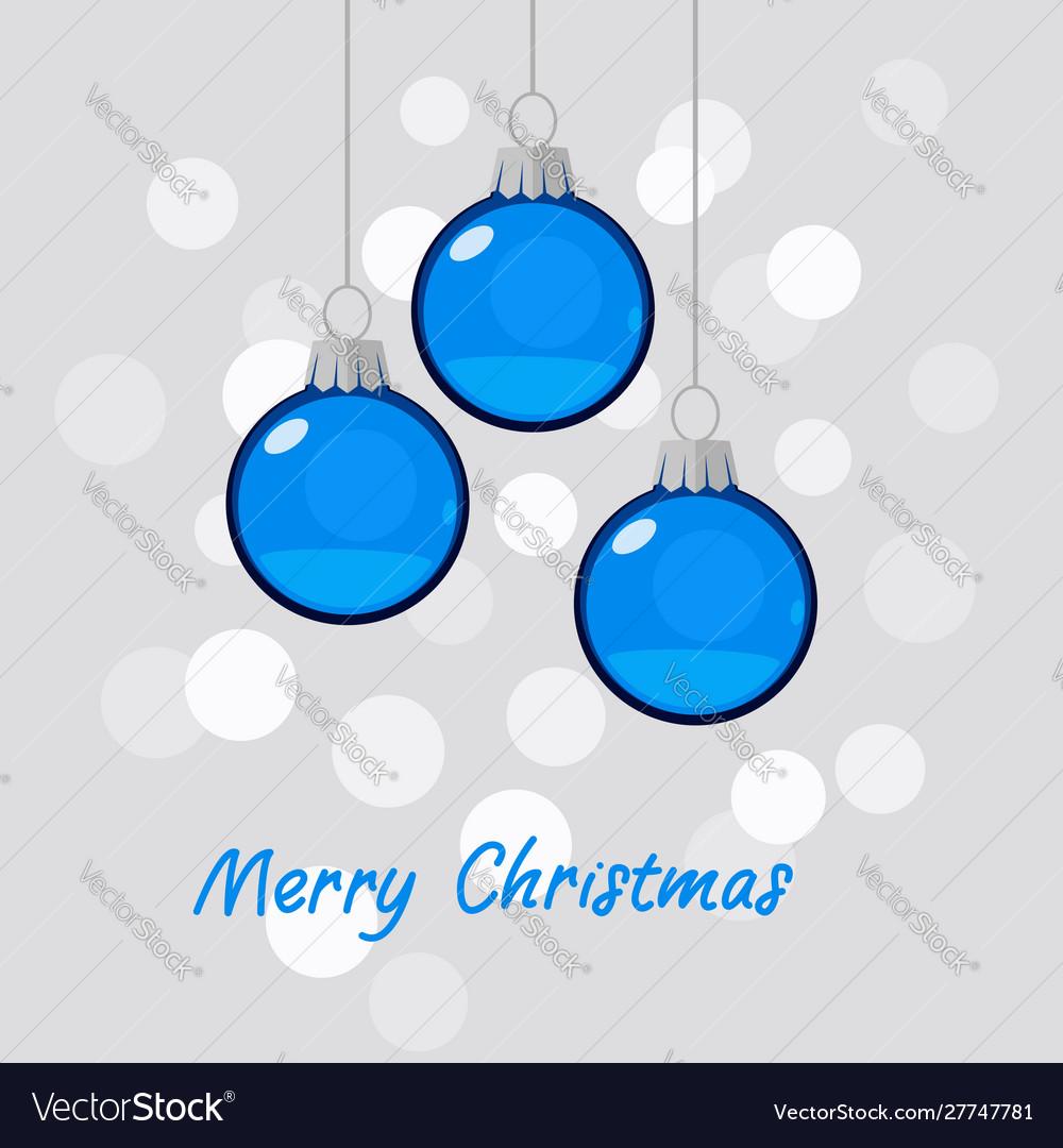 Winter holiday blue christmas