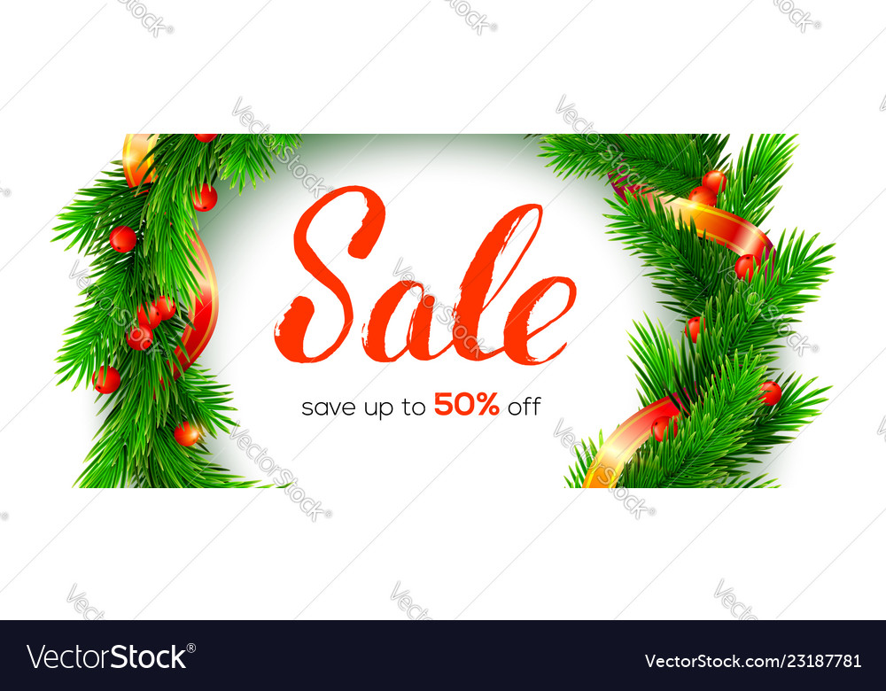 Winter sale up to 50 percent discount banner