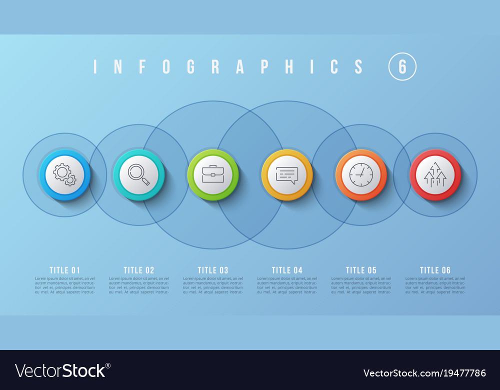 6 options infographic design presentation