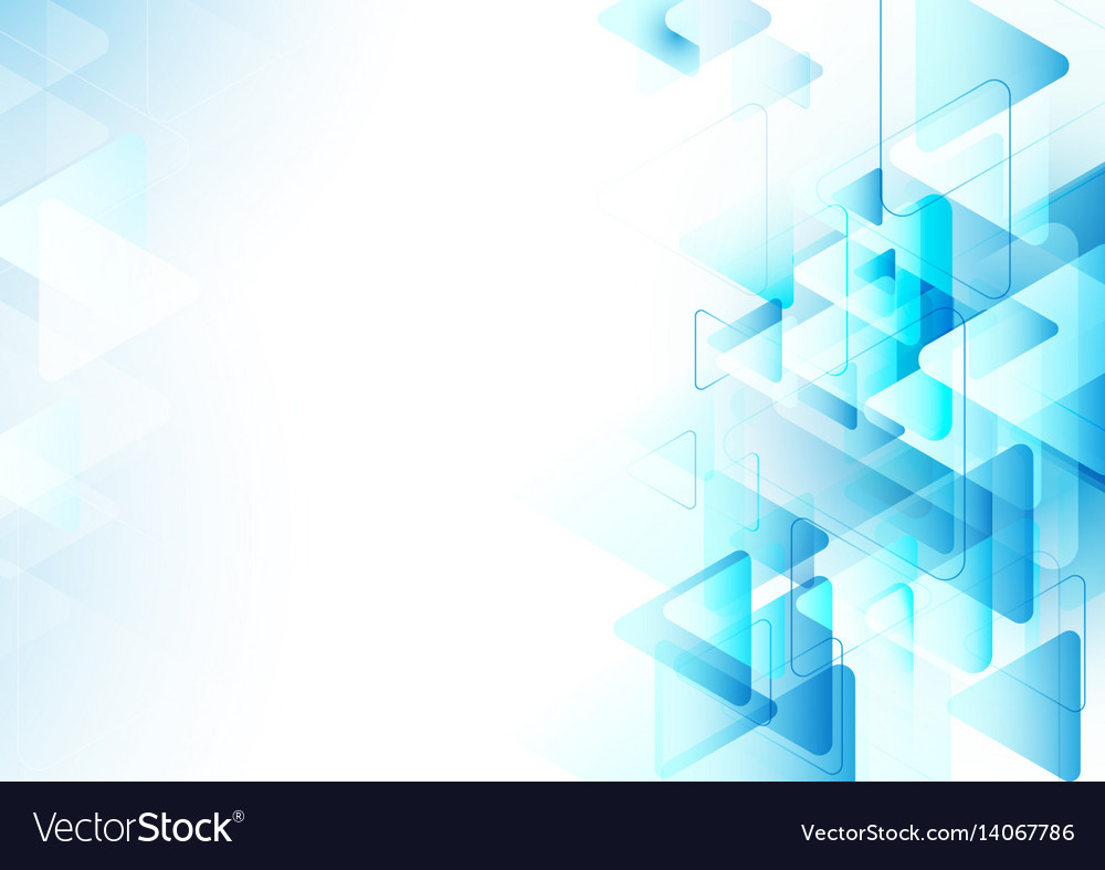 Abstract blue triangles repeating background vector image