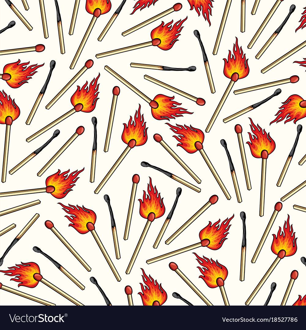 Background pattern with safety matches