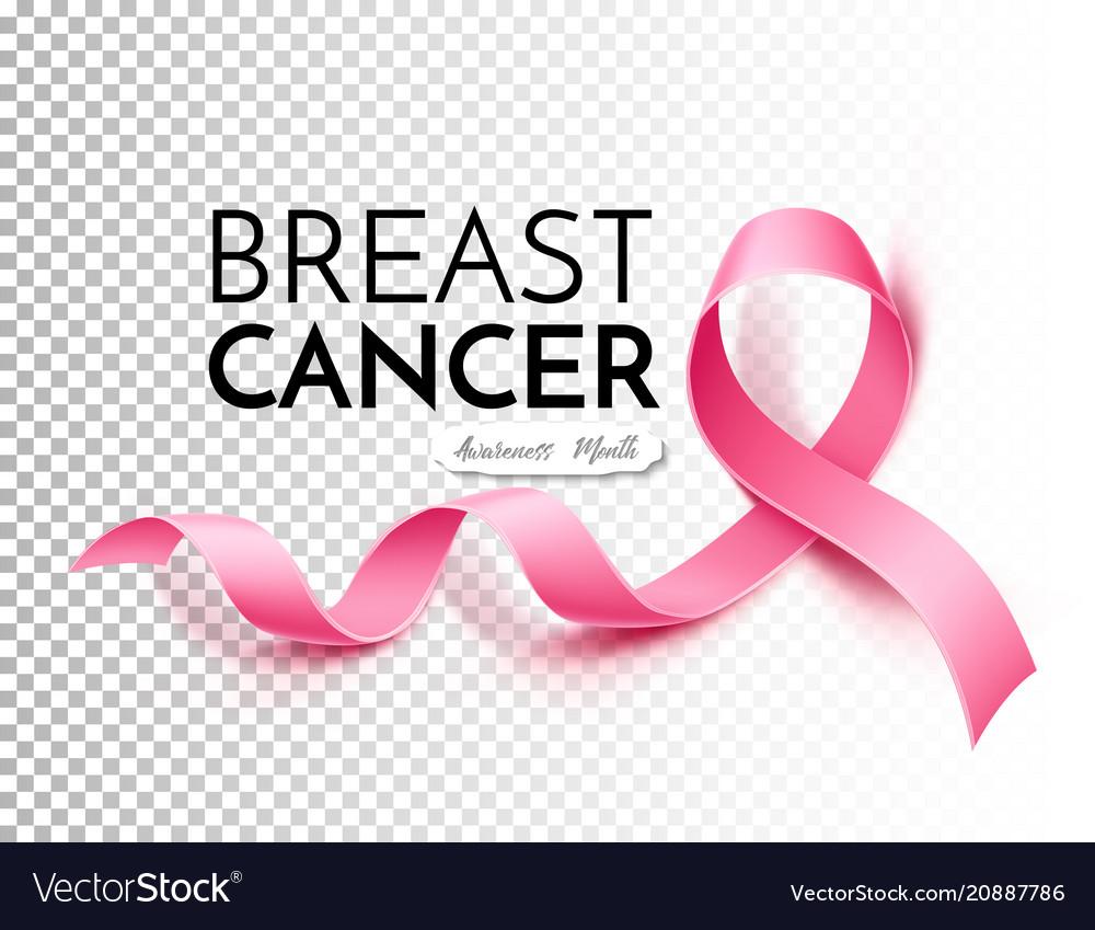 Breast cancer awareness poster pink ribbon