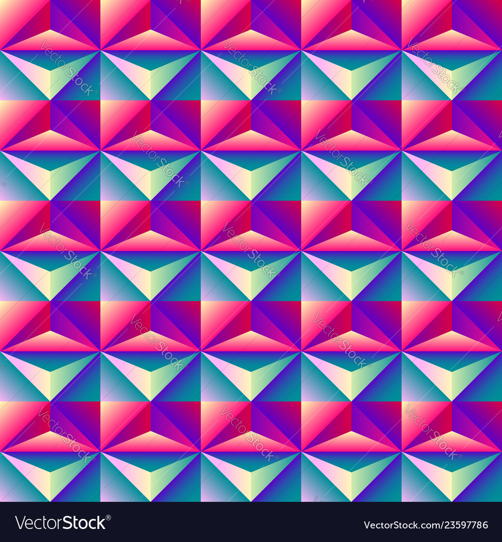 Bright colorful geometric abstract rhombus 3d