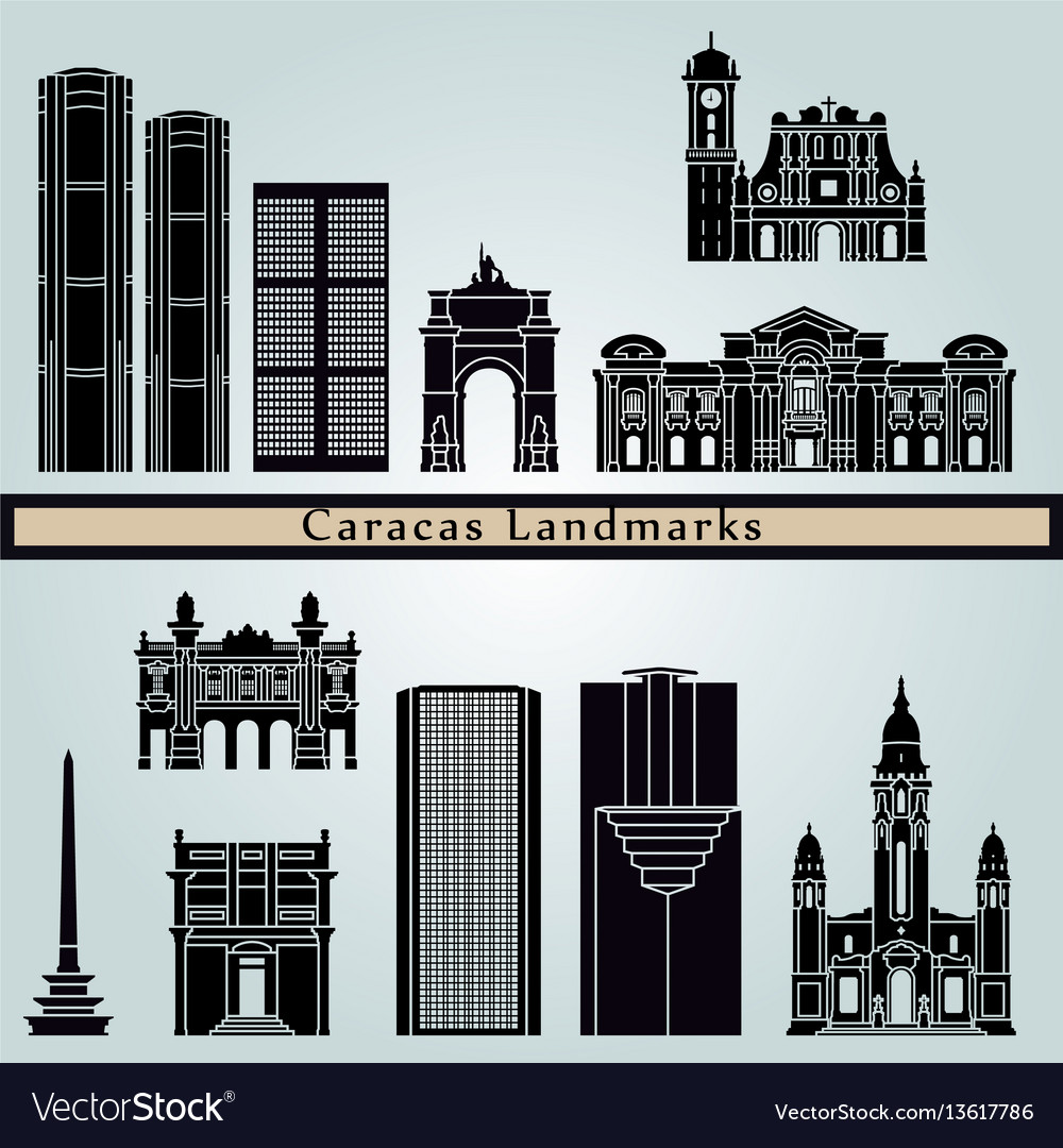 Caracas v2 landmarks vector image