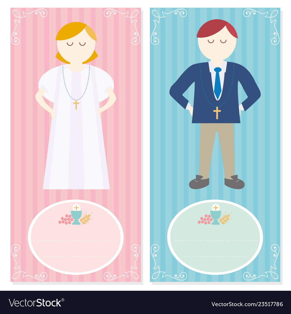 First communion for a nice invitation design