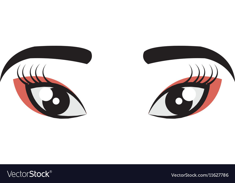 Geisha eyes view icon vector image