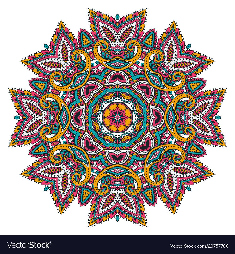 Mandala pattern of henna floral elements
