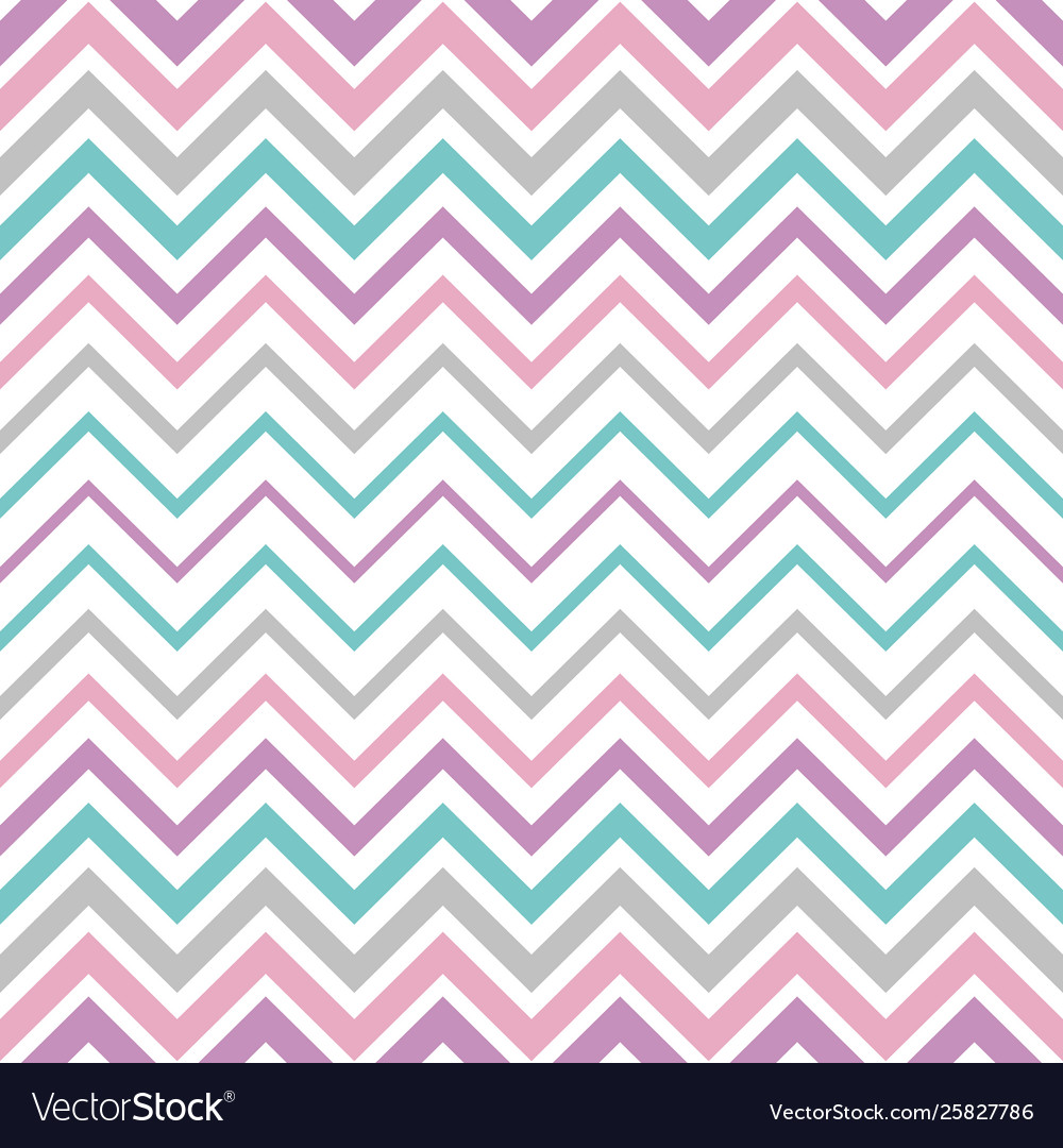 Pastel vintage seamless zigzag line pattern