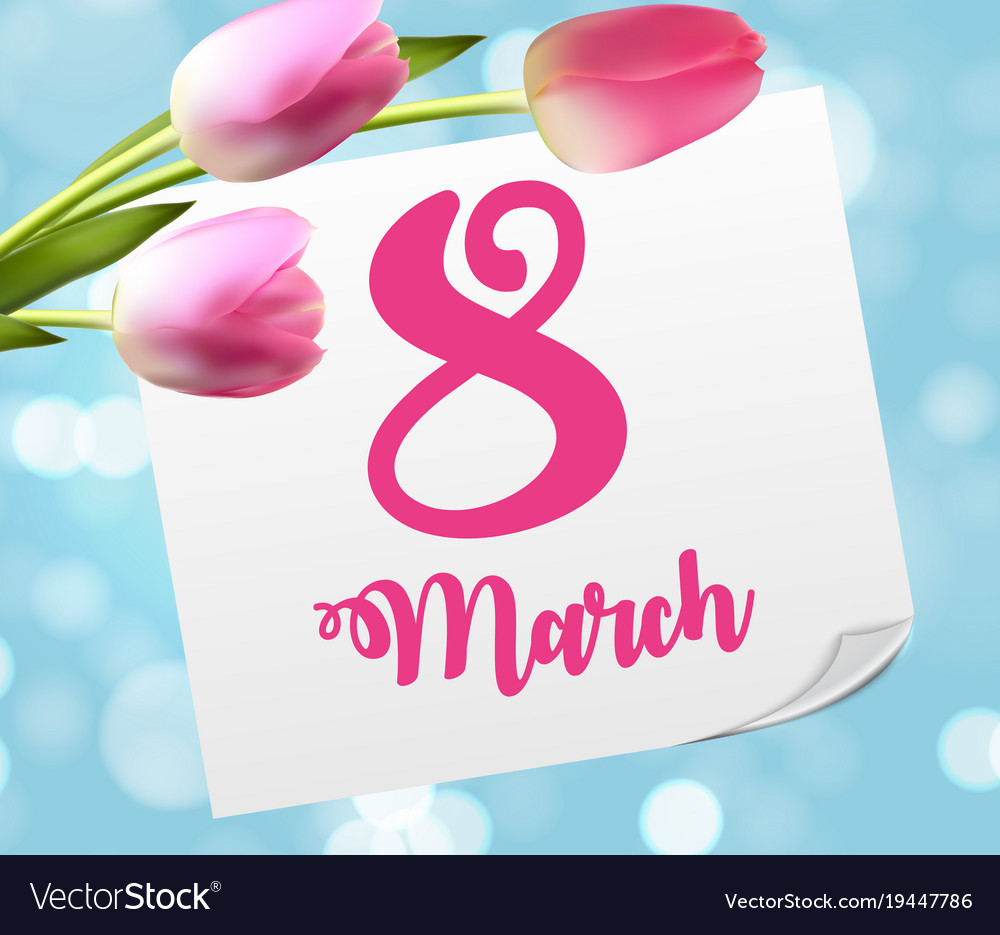 Poster international happy women s day 8 march