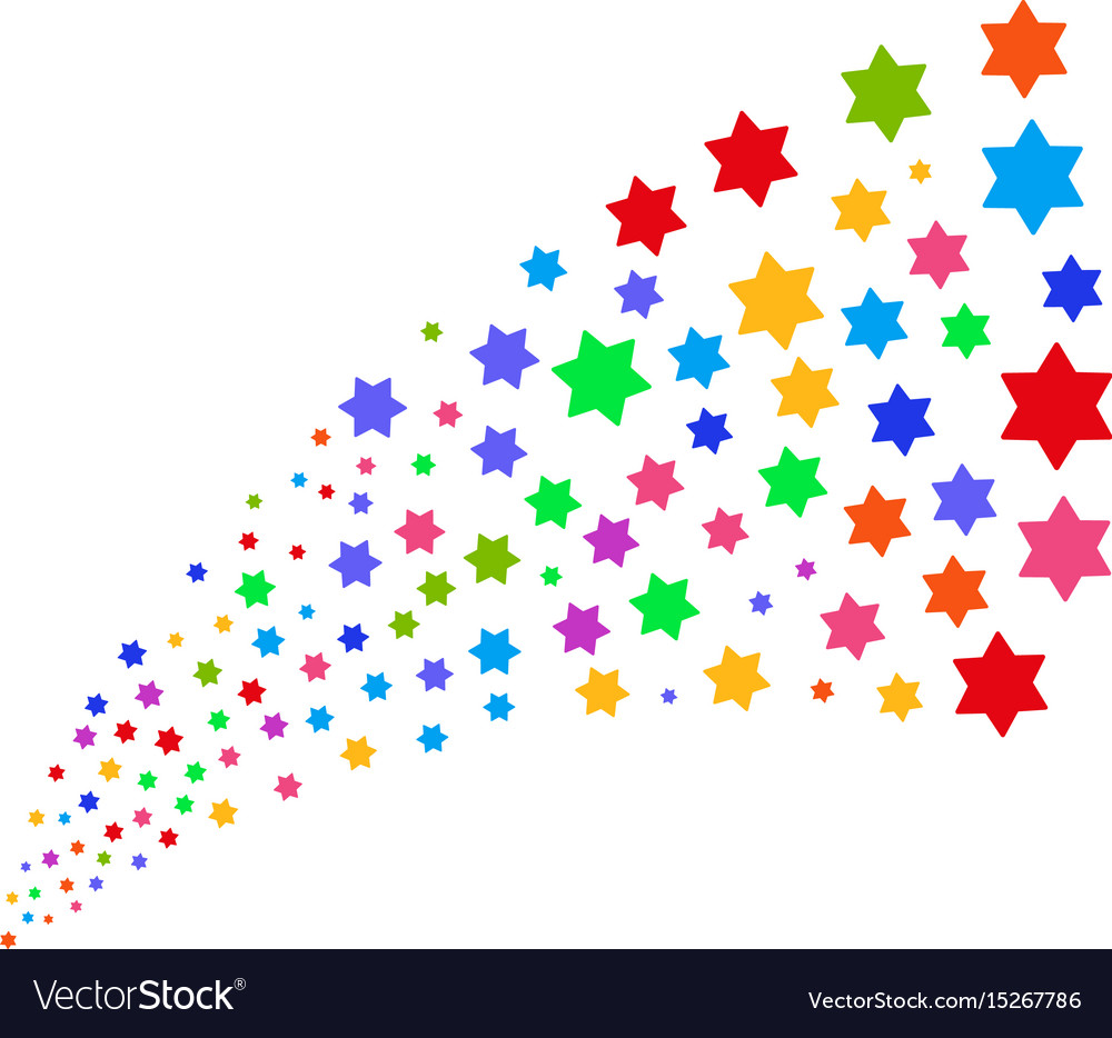 Source stream of six pointed star vector image
