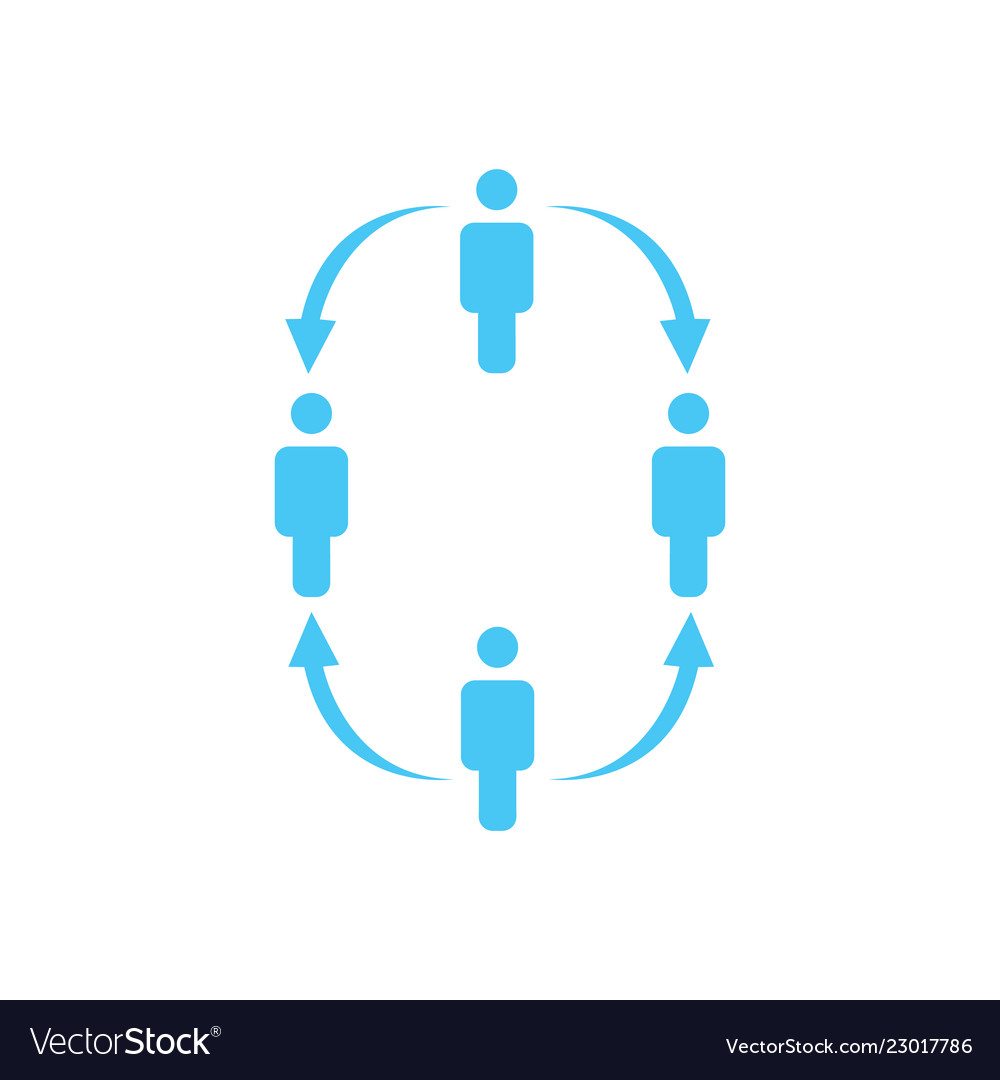 Structure of company icon four people business