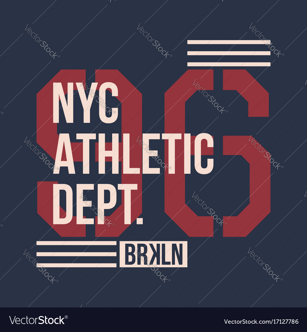Vintage label athletic sport typography for t