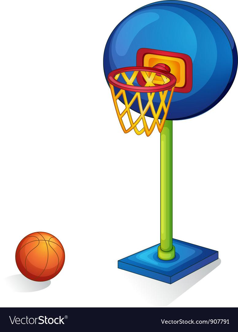 Basketball ring and ball vector image
