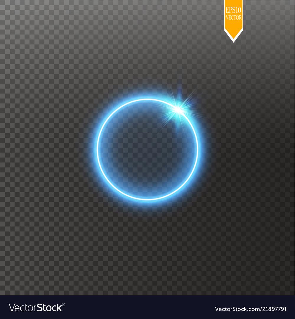 Blue round shining circle frame isolated on