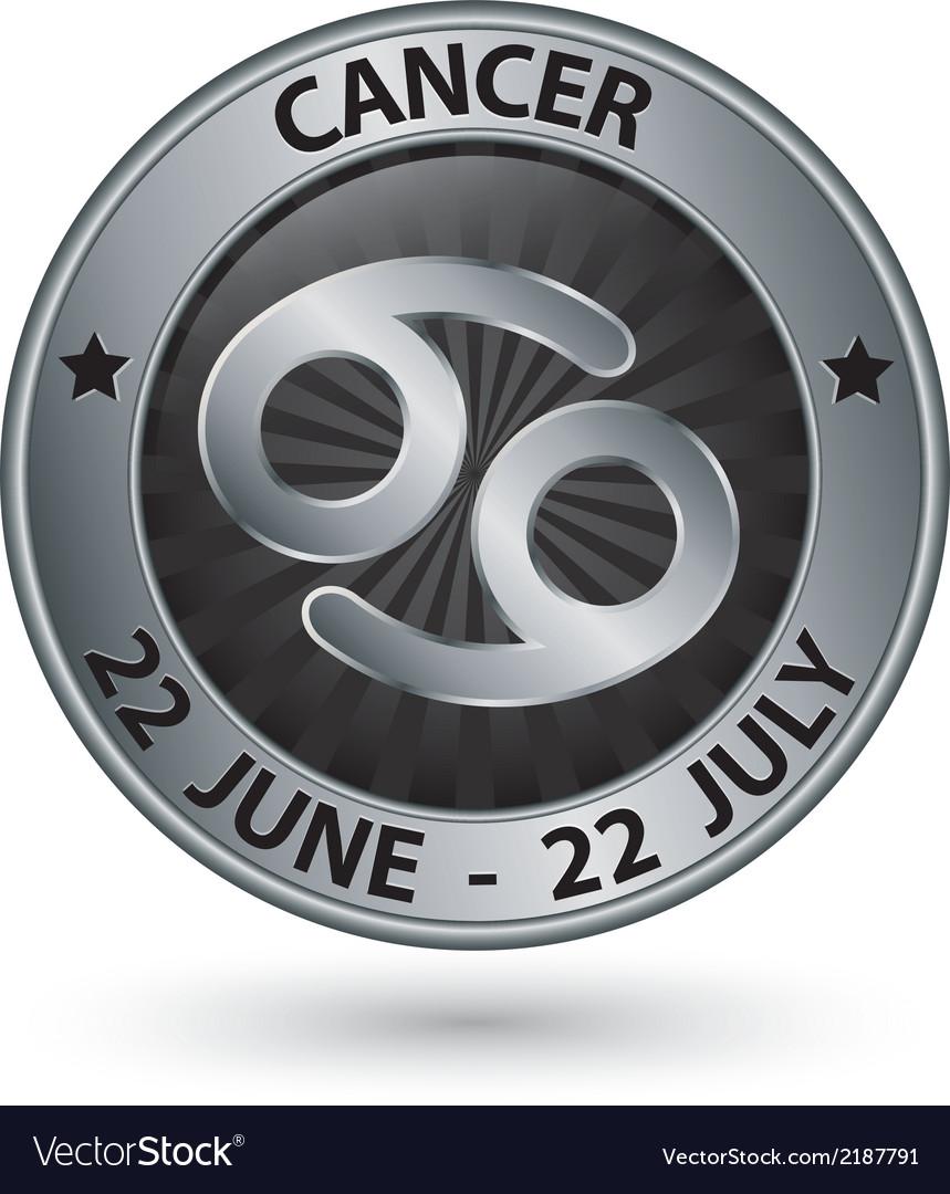 Cancer zodiac silver sign cancer symbol