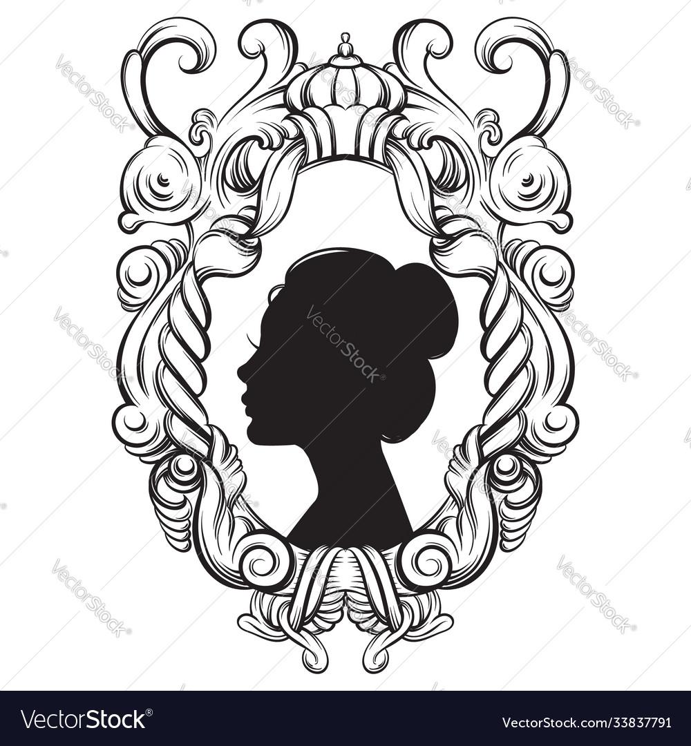 Creative woman beautiful ypung profile