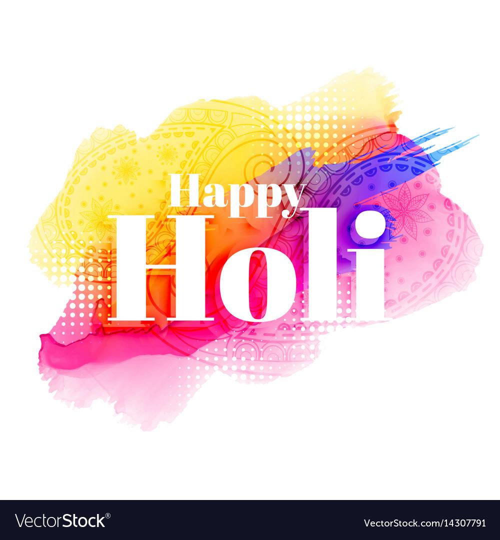 Happy holi greeting background design