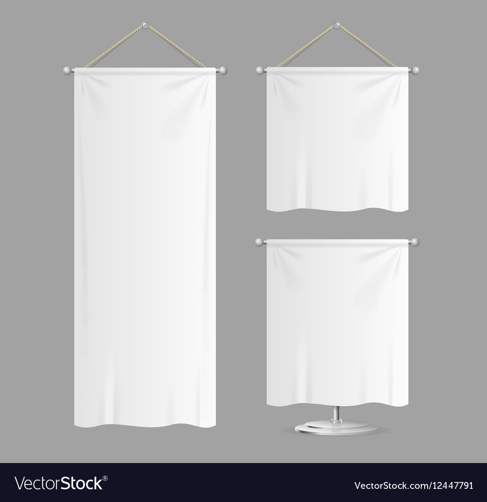 Textile Banners with Folds Set