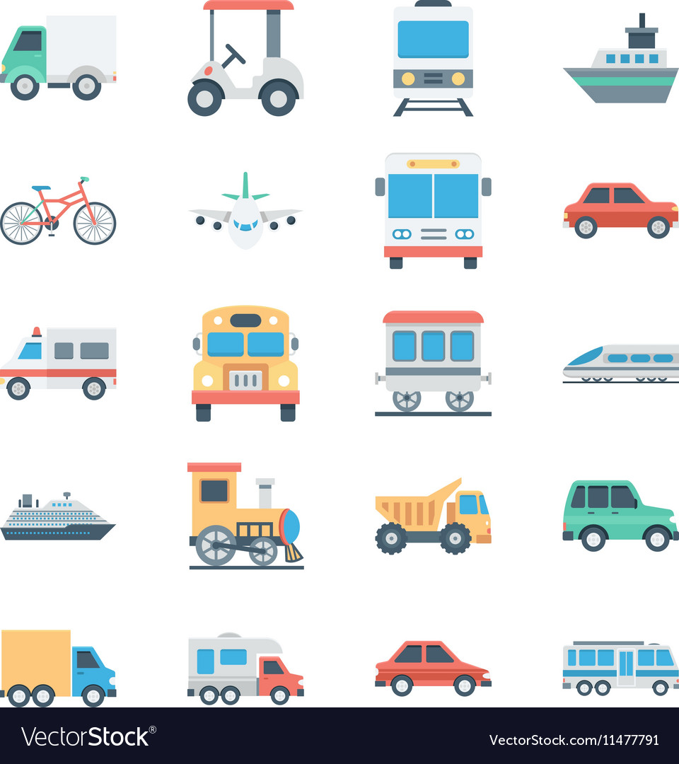 Transports Colored Icons 1
