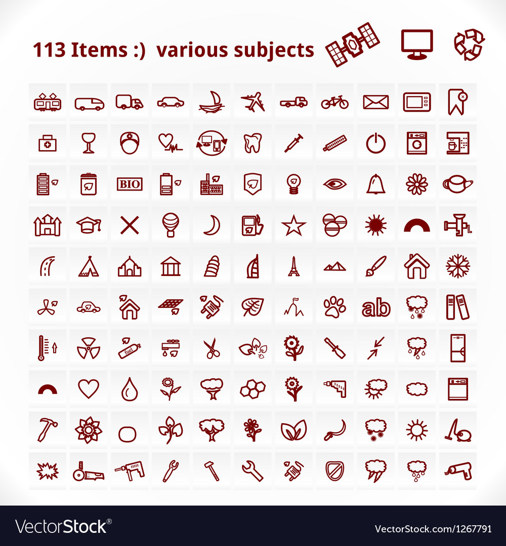 Various Subjects Icons