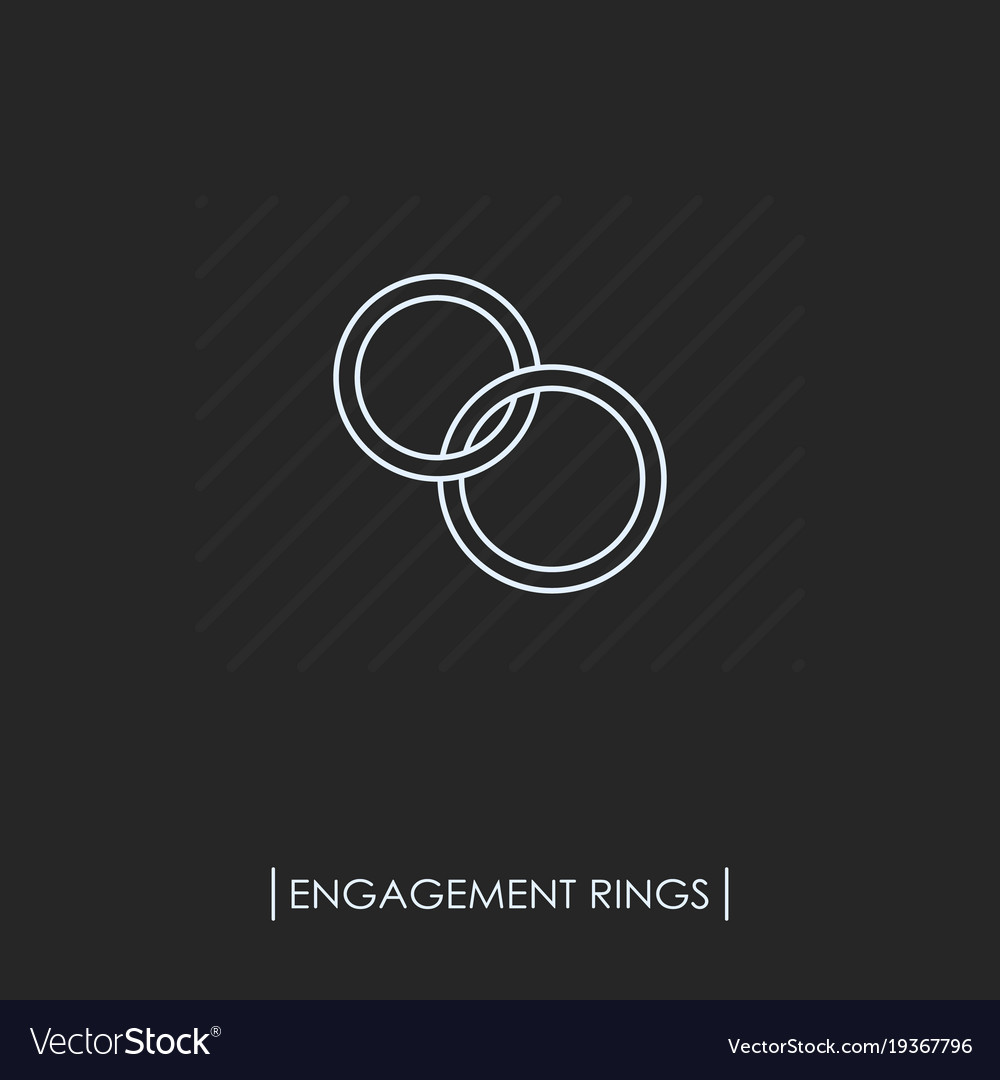Engagement rings outline icon isolated