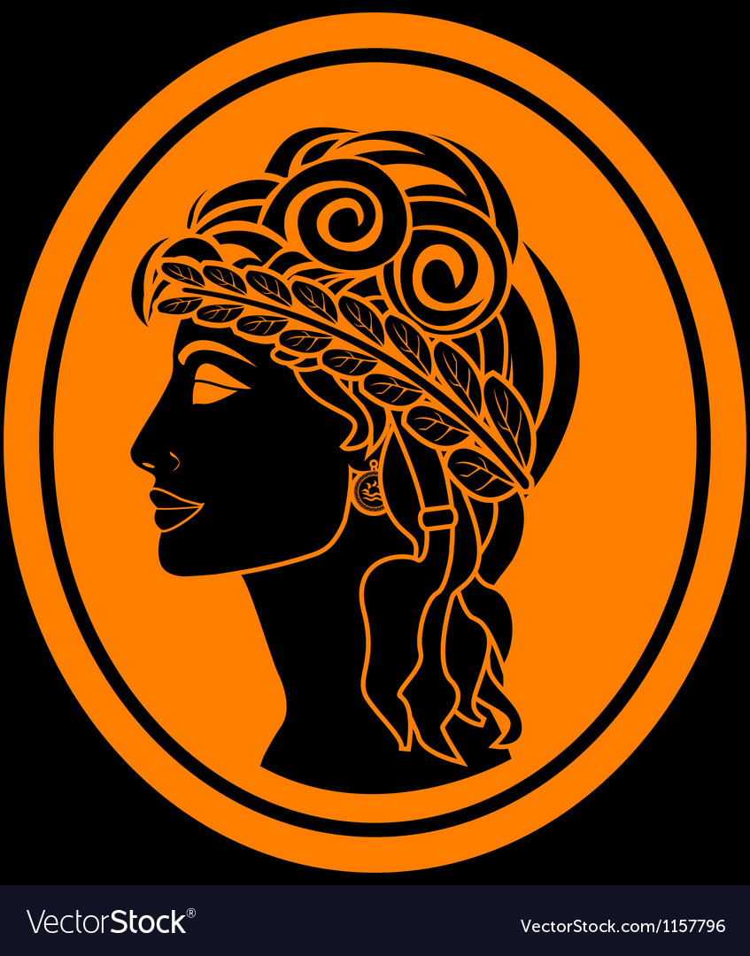 Greek woman vector image