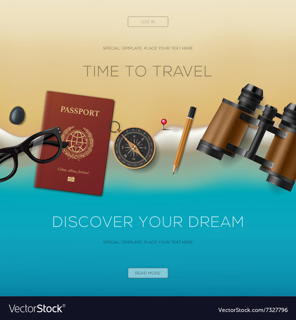 Travel banner for website vacation in paradise