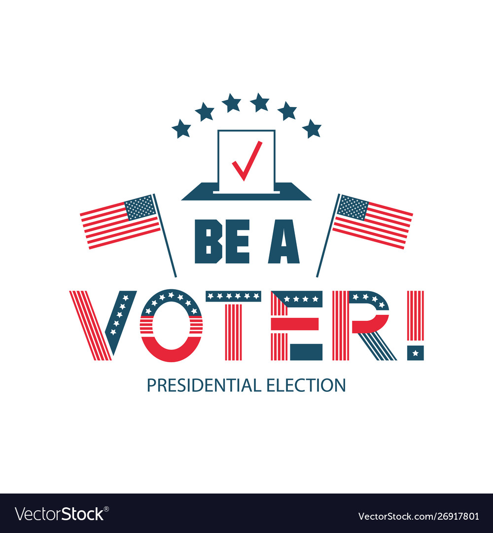 Be voter color logo template united states