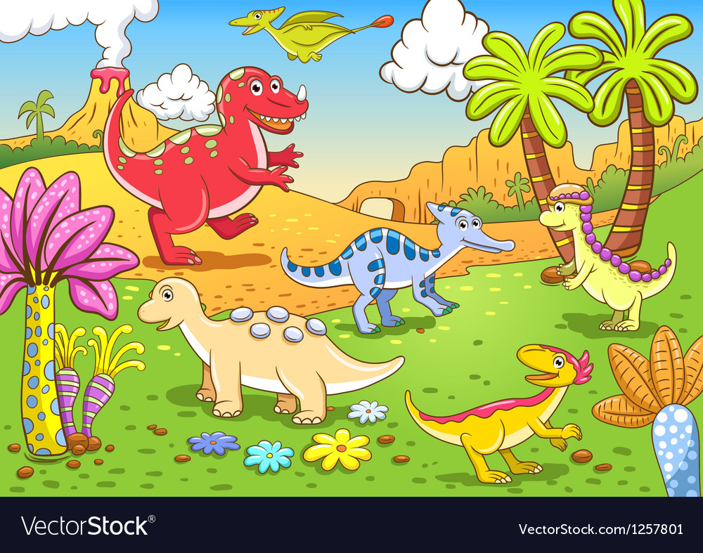 Cartoon Dinosaur Background
