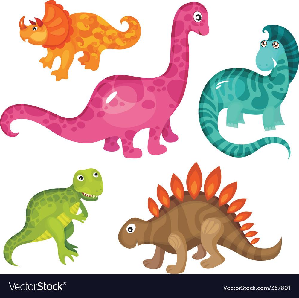 Dinosaur set vector image