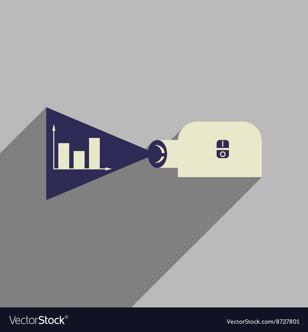 Flat web icon with long shadow economy