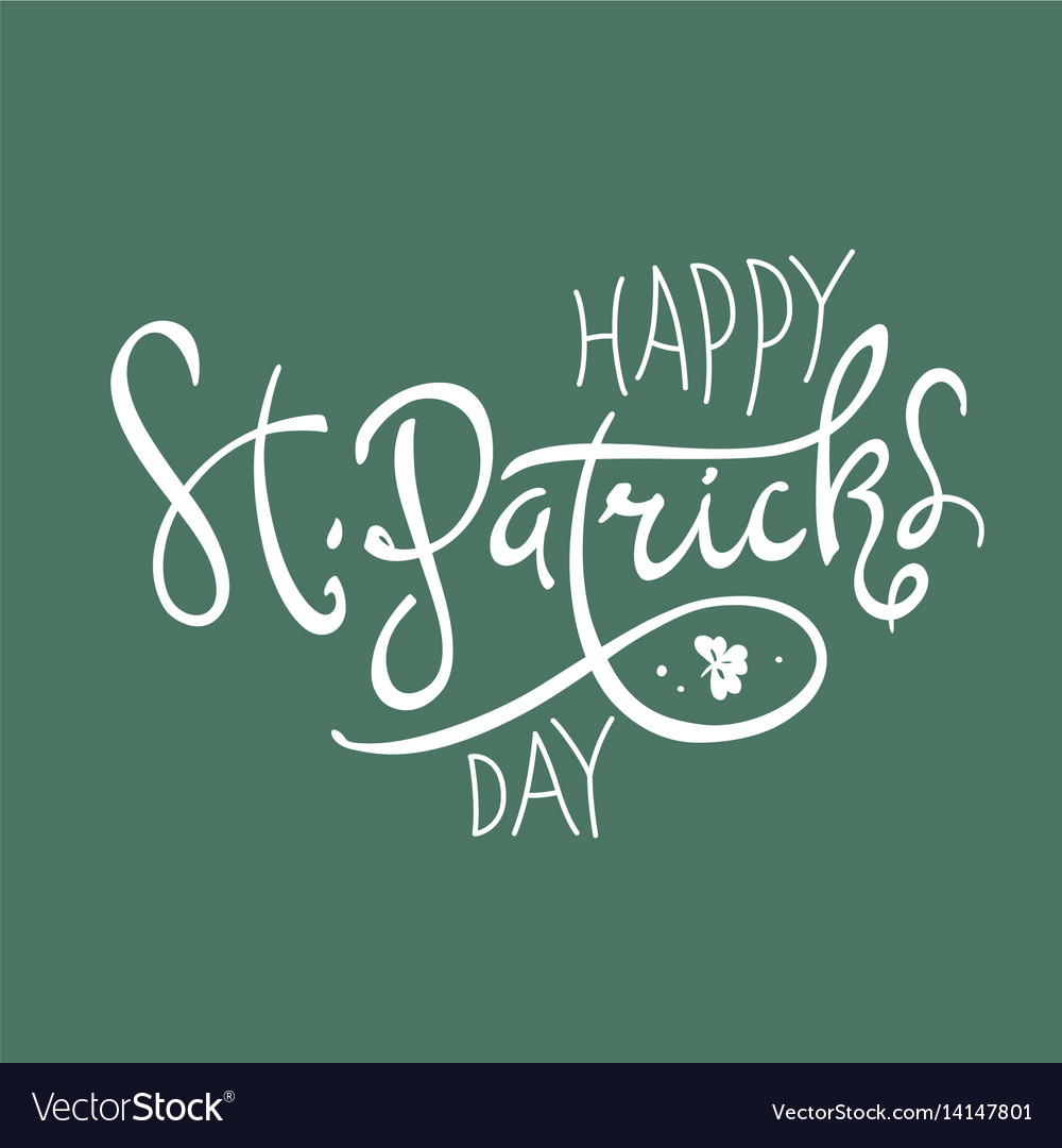 Happy saint patricks day logotype celebration