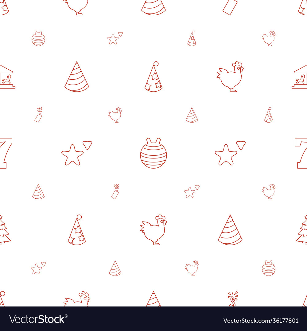 New icons pattern seamless white background
