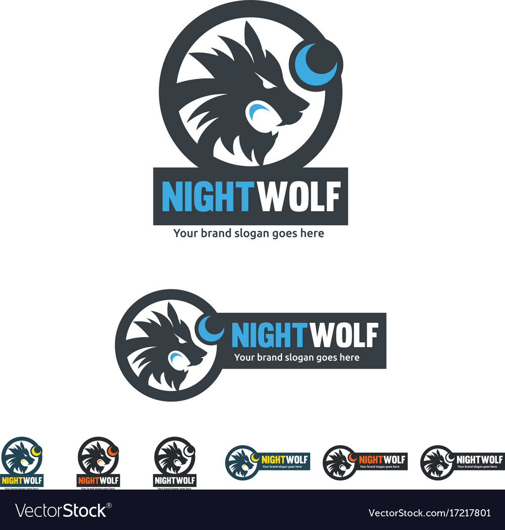 Night wolf identity roar wolf with the moon shape