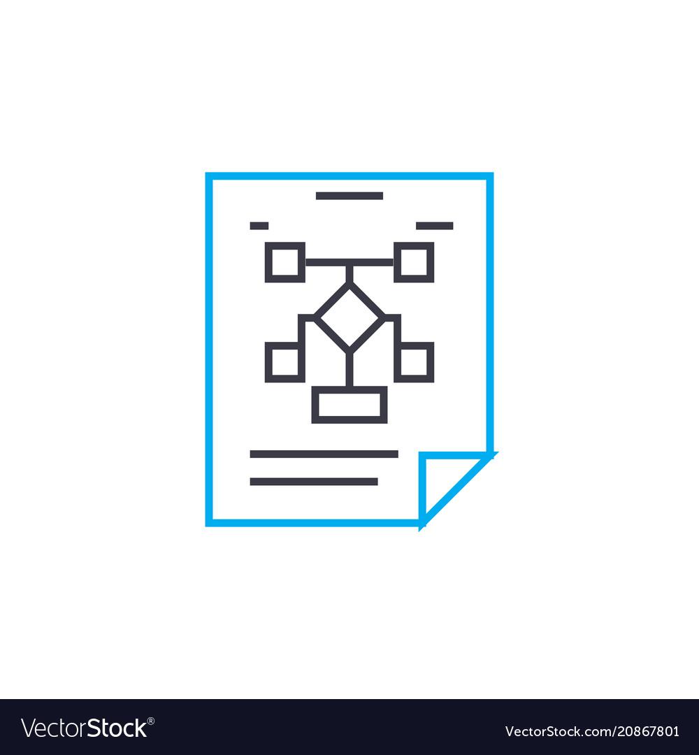 Working scheme thin line stroke ico