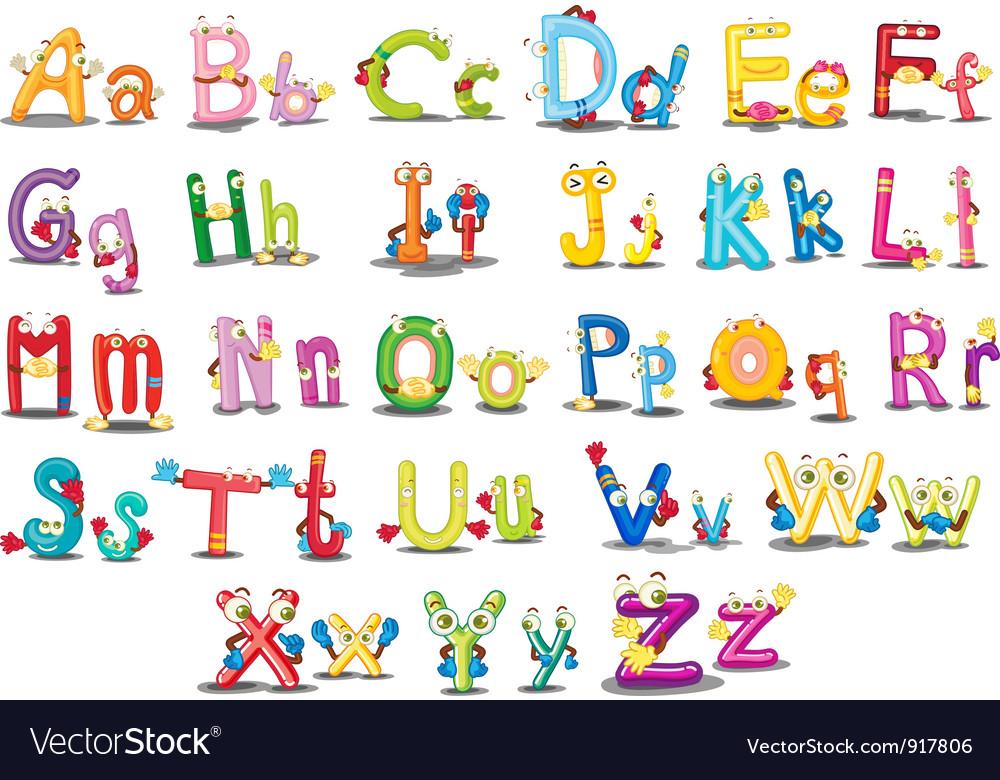 Alphabet Characters Royalty Free Vector Image Vectorstock