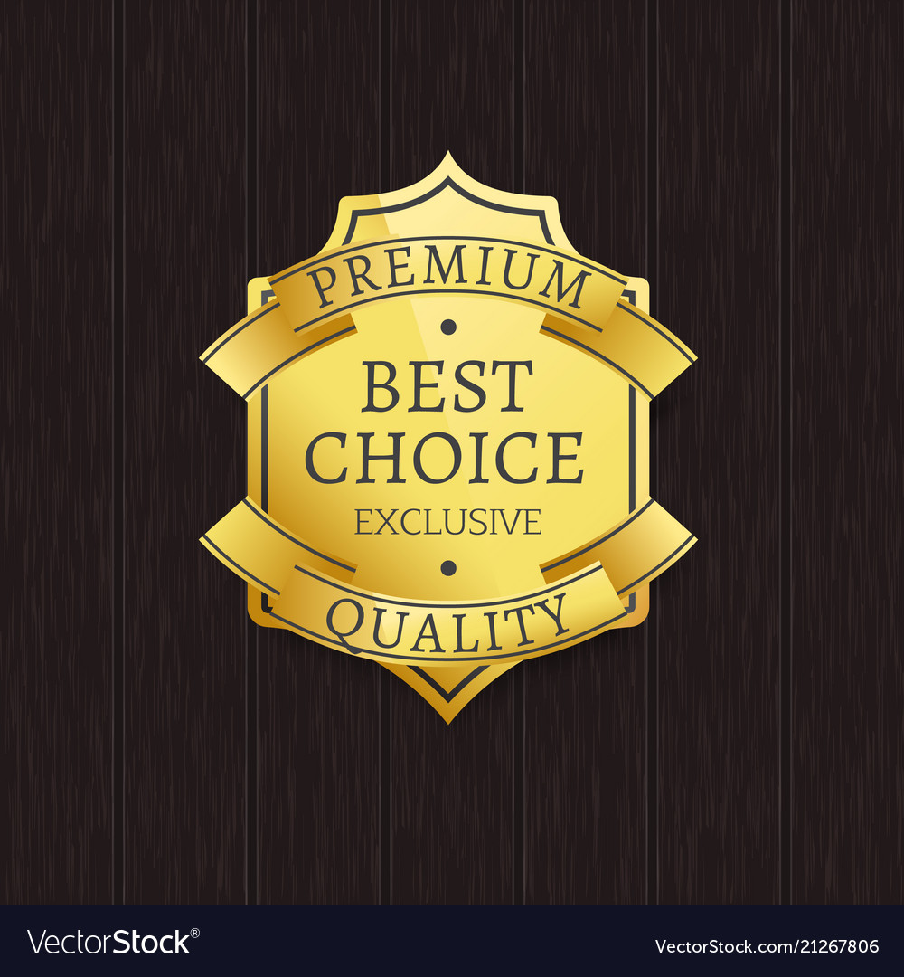 Best choice premium quality label gold stamp icon