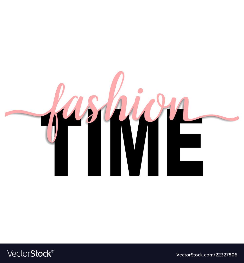Fashion time t-shirt fashion print on white