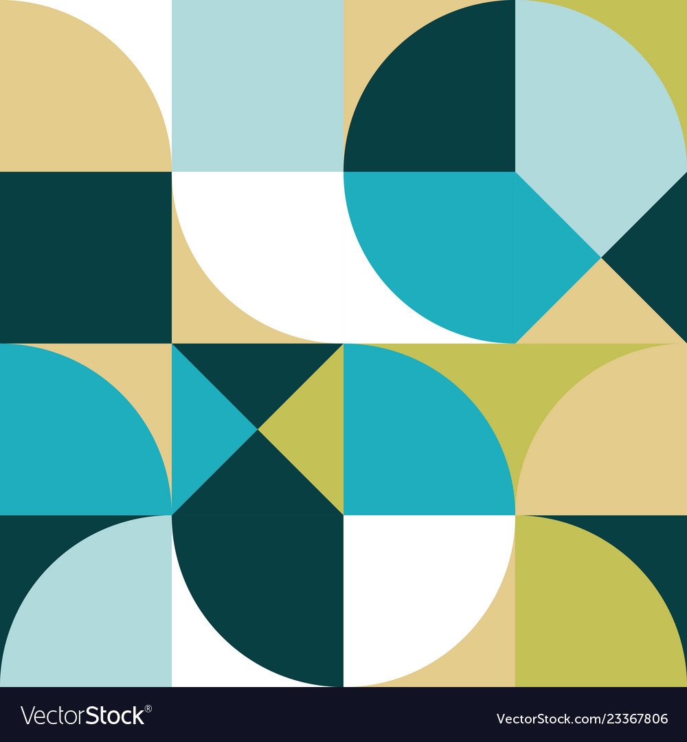 Geometric simple colored seamless pattern