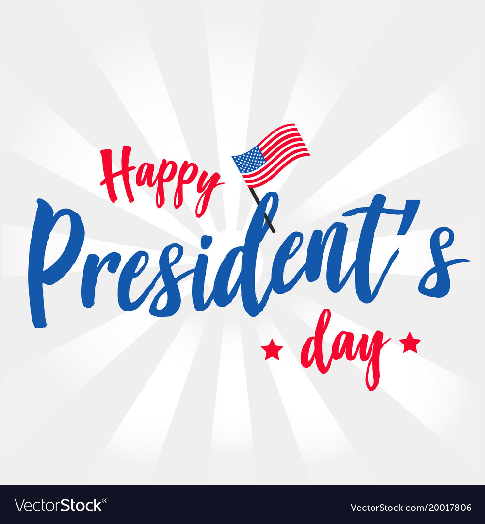 Happy presidents day background or banner graphic