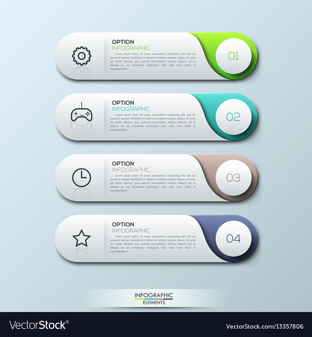 Infographic design template with 4 separate
